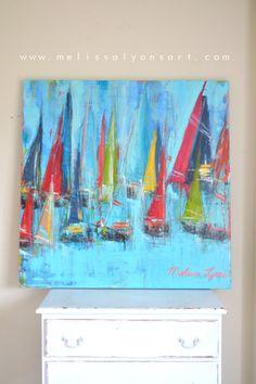 large sailboat painting von boutique419 auf Etsy