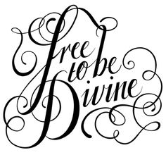 Free to be Divine by Nicolette Atkinson, via Behance