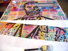 *Reduce *Reuse *Recycle - NEWSPAPER Abe {tutorial} cool art from used material crafts diy