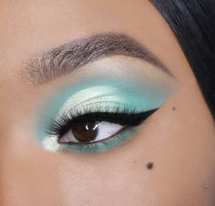 Colourpop Mint To Be Collection - Product Details, Top Looks + Quick Tutorials Mint Eyeshadow, Colourpop Eyeshadow, Colourpop Cosmetics, Eyeshadow Looks, Nyx Lipstick, Makeup Trends, Makeup Inspo, Makeup Inspiration, Makeup Ideas