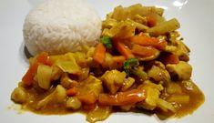 15 nye middager under 70 kr for familie på 4 Veggie Recipes, Asian Recipes, Ethnic Recipes, Veggie Food, Coleslaw, Kung Pao Chicken, Wok, Nom Nom, Grains