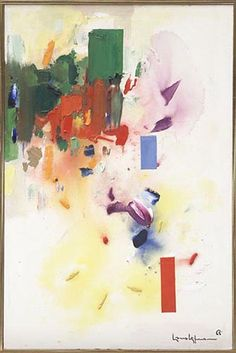 The Castle by Hans Hofmann, 1965 Oil on Canvas, Art Work Abstract Expressionism, Abstract Art, Abstract Paintings, Modern Paintings, Hans Hofmann, Art Articles, Painting Gallery, Art Gallery, Figurative Art