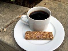 Nutrisystem Day 1 Breakfast.  Harvest Nut Bar and Coffee