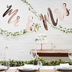This lovely Mr & Mrs bunting in Rose Gold is a versatile wedding decoration. It can be used to adorn the front of the top table, as an entrance door decoration, backdrop decoration for photos or a wall display in your venue. Alternatively it could be used at a wedding anniversary event.