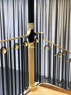 Stunning railings for home - HMH Iron Design Metal Handrails For Stairs, Staircase Metal, Staircase Railing Design, Luxury Staircase, Modern Railing, Balcony Railing Design, Stair Handrail, Metal Railings, Metal Fence