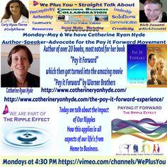 #WePlusYou  talks #PayingItForward #TheRippleEffect w/ @Catherine Ryan Hyde @Carly Alyssa Thorne @RickZanotti http://carlyalyssathorne.com/?p=877