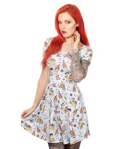 Liquor Brand Damen  ALOHA Kleid.Oldschool,Tattoo,Pin up,Custom,Biker Style