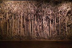 Eva Jospin   Forêt, 2012, Palais de Tokyo, centre d'art contemporain