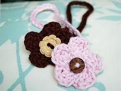 Button Baby Headband free pattern