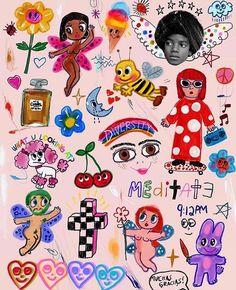 Photo Wall Collage, Collage Art, Pretty Art, Cute Art, Acab Tattoo, Tattoos, Indie Art, Indie Kids, Aesthetic Art