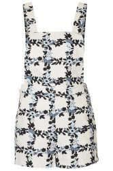 Topshop Cream Floral Pinafore We Want!