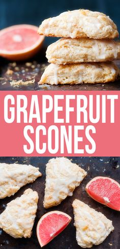 Grapefruit Scones - replace butter with smart balance, milk with almond milk (donut recipes almond milk) Breakfast Recipes, Dessert Recipes, Scone Recipes, Bar Recipes, Breakfast Smoothies, Donut Recipes, Sweet Desserts, Salad Recipes, Muffins