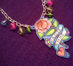 Shrinky dink for grownups and it's gorgeous!!