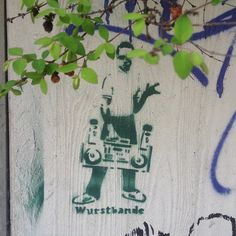 Wirstbande  #streetart  Berlin by barbnerdy, via Flickr