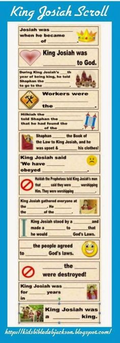King Josiah is such a fun lesson for kids! There are some really great things to learn, too! King Josiah was young and faithful to God. ...