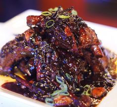 ANDREW ZIMMERN: Black Bean Spare Ribs with Green Onion