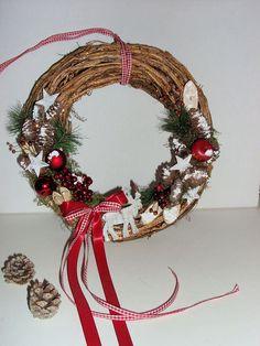 Weihnachtsdeko - Türkranz Winterzeit - ein Designerstück von blumenamschloss bei DaWanda