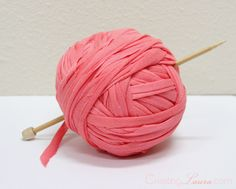 Tutorial on making your own DIY jersey yarn from Creating Laura