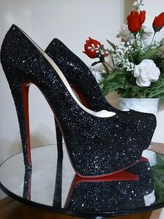 d3bdd592ff2f Custom Strass Louboutin Platforms Got a pair of designer shoes you d like  embellished with authentic Swarovski crystals  Visit my webpage for all the  ...