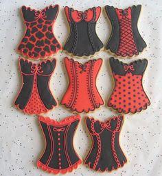 red corset cookies