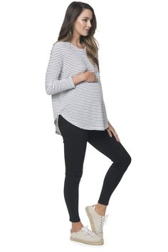 Long Sleeve Maternity Top by BAE The Label | 'Let it be L/S Tee'