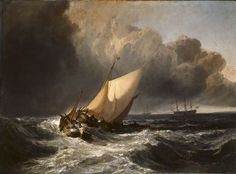 Dutch Boats in a Gale (The Bridgewater Sea Piece) (Oil on Canvas), by Joseph Mallord William Turner Joseph Mallord William Turner, Turner Artworks, Art Romantique, Turner Painting, Thomas Gainsborough, Dante Gabriel Rossetti, Henri Rousseau, Tate Gallery, Web Gallery