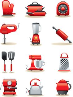 kitchen clip art | The Kitchen icon is a vector illustration and can be scaled to any ...