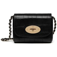 Mulberry Mini Lily (685 CAD) ❤ liked on Polyvore featuring bags, handbags, shoulder bags, black, mini handbags, lily purses, chain strap purse, mulberry handbags and miniature purse