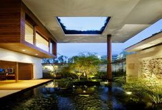 Luxury and Modern Home Design Idea That Each Level There Is a Beautiful Garden in Singapore (7)