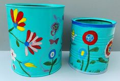Latas recicladas por Ricardo Stefani Mosaics, Tapas, Beauty Products, Planter Pots, Recycled Tin Cans, Home, Cosmetics, Mosaic, Products