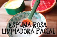 Producto casero: Espuma rosa limpiadora facial