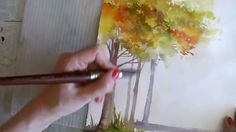 Winter & autumn trees made lovely in watercolor. If you are struggling with painting trees, here are some tips that will help. Artist Angela Fehr demonstrate...
