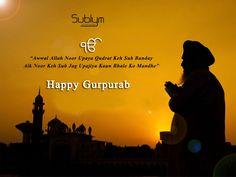 #Sublym Wishes you a very Happy #gurpurab...!!!