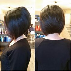 Done by Charmaine at CharMarie Salon in Chris… Precision long angled bob haircut. Done by Charmaine at CharMarie Salon in Christiansburg, VA Trending Hairstyles, Pretty Hairstyles, Celebrity Hairstyles, Short Hair Cuts For Women, Short Hair Styles, Short Cuts, Inverted Bob Hairstyles, Angled Bob Haircuts, Pixie Haircuts
