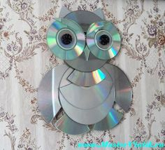 Cd Crafts, Tin Can Crafts, Upcycled Crafts, Jewelry Crafts, Paper Crafts, Cd Art, Junk Art, Art N Craft, Diy Cleaning Products