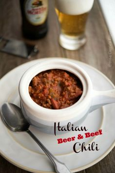 Carrie's Experimental Kitchen: Slow Cooker Italian Beer & Beef Chili