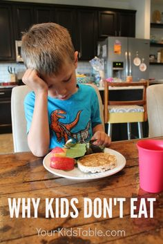 There are lots of reasons kids don't eat, and understanding why can help you help them. From a feeding therapist and mom.