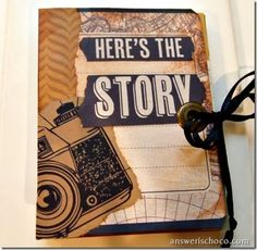 Mini book made using #ProjectLife #VintageTravel - Great idea for small trips.