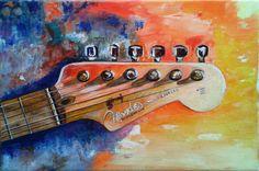 Elisa Figueroa - Bodegón Mango Guitarra - óleo de 30 x 20 (Réplica)