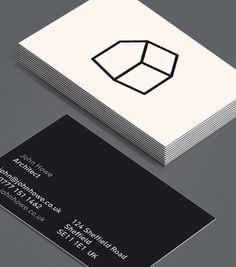 Draw Houses: if stark minimalism is the style you're looking to show to prospective clients, then these Architect Business Cards will suit you down to the ground(floor! Minimalist Business Cards, Elegant Business Cards, Free Business Cards, Business Card Design, Corporate Design, Branding Design, Architecture Business Cards, Visiting Card Design, Name Card Design