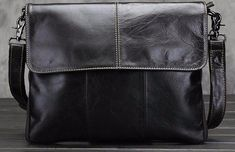 Genuine Leather Messenger Bags for Men