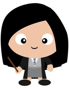 Cho Chang. Harry Potter's crush, but Cedric Diggory's date. Forever changed. Check out all the other Harry Potter character clipart we've made in our new Etsy shop.
