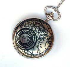 doctor who pocket watch working watch with fob by timemachinejewelry. Black Bedroom Furniture Sets. Home Design Ideas