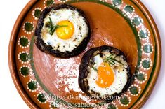 Stuffed portobello breakfast