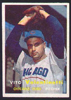 1957 Topps Vito Valentinetti #74 Rookie Card NM  $10