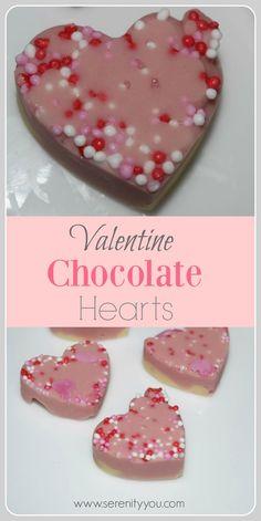 Valentines Chocolate Hearts #Valentinesday #hearts #food
