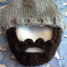 Cozy bulky beard hat for my brother!