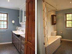 salle de bain classique champêtre, tuiles subway | salle de bain ... - Salle De Bain Classique