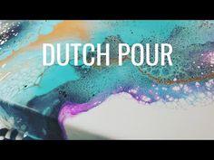 Acrylic Pouring Technique The Dutch Pour Acrylic Painting Lessons, Pour Painting, Painting Videos, Acrylic Art, Diy Painting, Paint Pouring Medium, Glow Paint, Acrylic Pouring Techniques, Resin Pour