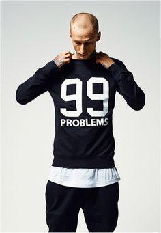 99 Problems Crewneck Sweater #fashion #crewneck #99problems #style #styling #crewneck #sweater http://www.rudestylz.de/99-problems-crewneck.htm